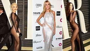 I look di Jennifer, Irina e Rita la notte degli Oscar è trasparente
