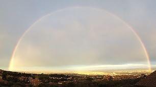 Roma, il doppio arcobaleno