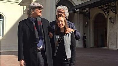 """Grillo e Casaleggio al Colle   foto     video   """"Incontro con Mattarella costruttivo Fermi prevaricazioni del governo"""""""
