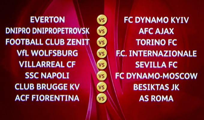Europa League, derby Fiorentina-Roma. L'Inter pesca il Wolfsburg, lo Zenit per il Torino. Ostacolo Dinamo Mosca per il Napoli