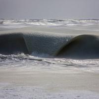 Usa, temperature sottozero: l'onda è ghiacciata