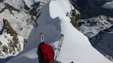 Vertigine Monviso, lo sci estremo  foto   sulla vetta più bella della catena alpina