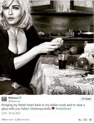 Madonna va da Fazio, l'8 marzo è un cinguettio