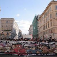 """Migliaia al corteo anti-Lega: """"Roma non li vuole"""""""
