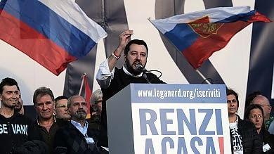 """Le urla di Salvini irritano Forza Italia     Il leader leghista: """"Peggio per voi"""" Ncd a Berlusconi: scelga, noi o la Lega"""