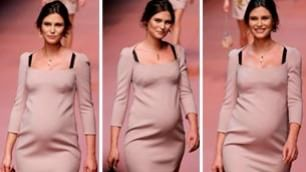 Bianca Balti musa per D&G    video    sfila al sesto mese di gravidanza