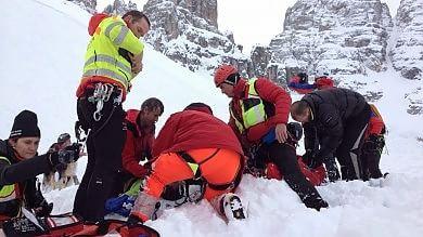 Veneto, morto secondo scialpinista travolto da una slavina vicino a Cortina