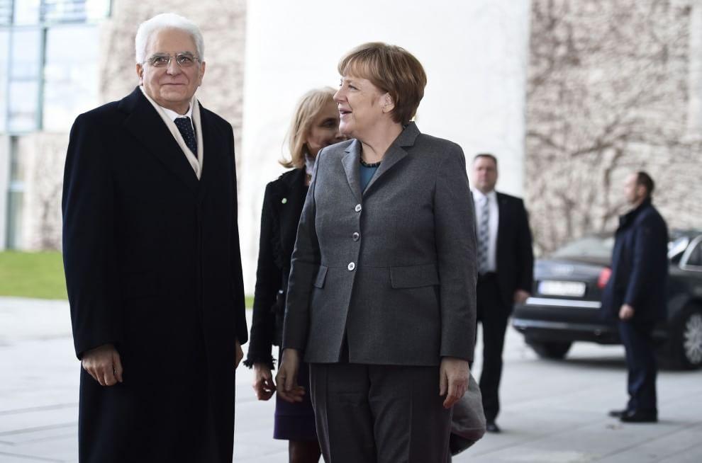 Risultati immagini per Mattarella e Merkel immagini