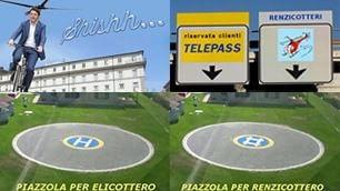 Attenti al #Renzicottero L'ironia vola su Twitter