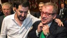 Salvini e Maroni al convegno col neo-nazista