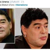 Il lifting di Maradona: il web non lo perdona