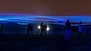 Sommersi da un mare di luci onde di led sull'Olanda