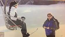 Pieraccioni e Torrisi, insieme  vacanza sulla neve con la figlia