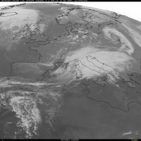 Maltempo sull'Italia, le immagini dal satellite