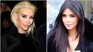 Kim Kardashian, nuovo look Capelli corti e biondo platino