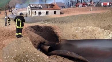 Frana, esplode gasdotto   foto   in Abruzzo   video        12 intossicati
