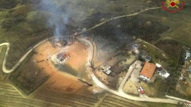 Frana, esplode gasdotto   foto   -   video      in Abruzzo dodici intossicati