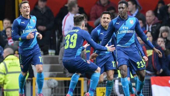 Inghilterra, FA Cup: l'Arsenal sorprende il Manchester United e vola in semifinale