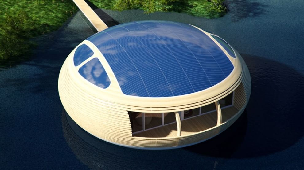 La prima casa galleggiante e riciclabile al 100%: realizzata da un italiano