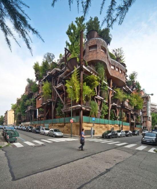 La casa respira con gli alberi: la bioedilizia nel centro città
