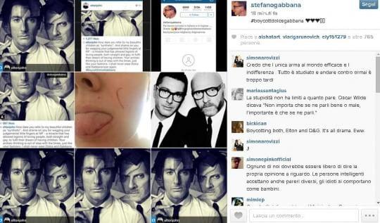 Elton John contro Dolce e Gabbana per frasi sui figli dei gay. Sui social si scatena il boicottaggio