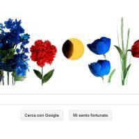 Primo giorno di primavera: il doodle di Google