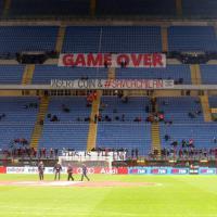 Milan-Cagliari, sciopero del tifo rossonero
