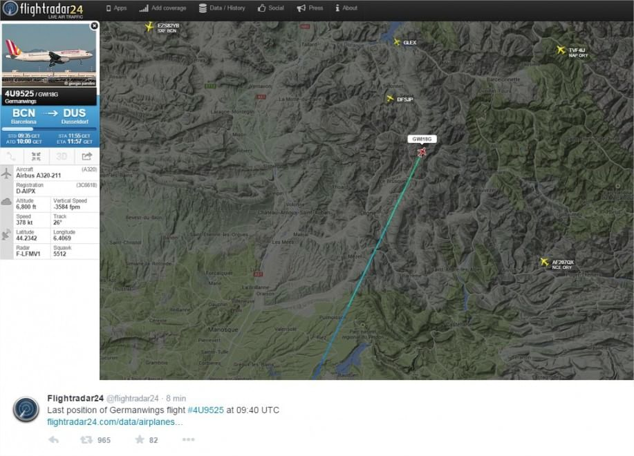 Airbus Germanwings precipita nel Sud della Francia: la rotta