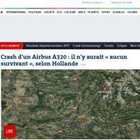 Airbus 320 precipita sulle Alpi: la notizia sui siti stranieri