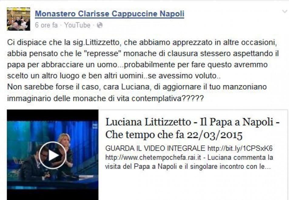 Suore di clausura contro la Littizzetto: ''Ma quali represse, aggiorna il tuo immaginario''