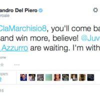 Da Del Piero a Mattiello: su Twitter il mondo del calcio abbraccia Marchisio