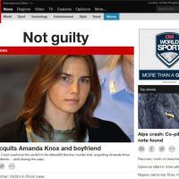 Omicidio Meredith, l'assoluzione di Amanda sui siti americani