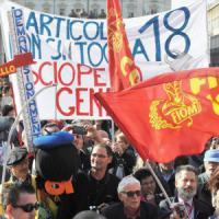 """'Unions' in piazza. Landini sfida il governo: """"Inizia nuova primavera. Stanchi di spot"""""""