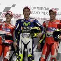 Motogp: in Qatar trionfo italiano, Rossi precede Dovizioso e Iannone