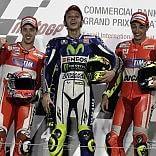 Gran giorno dell' Italia dei motori  MotoGp: superRossi, Ducati show