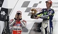 Rossi e le 'rosse' in trionfo Il mondiale parla italiano