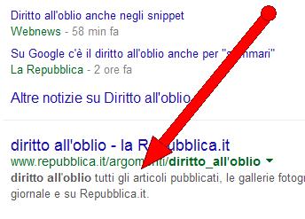 """""""Diritto all'oblio vale anche  per i 'sommari' di Google"""""""
