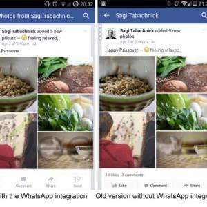 Facebook-WhatsApp, spunta un pulsante per l'integrazione