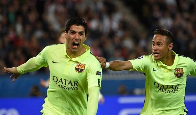 PSG-Barcellona 1-3, Suarez dà spettacolo a Parigi