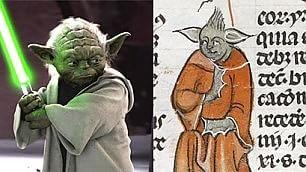 Le 'Guerre stellari' del medioevo  Nel manoscritto il sosia di Yoda