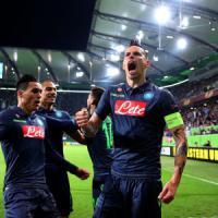 Wolfsburg-Napoli 1-4: Hamsik mattatore, semifinale in tasca