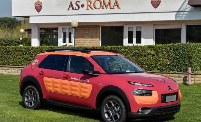 """La Citroën C4 Cactus, """"giallorossa"""" per beneficenza"""