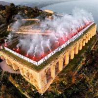 Il Terracina retrocede in Eccellenza, i tifosi manifestano al tempio di Giove Anxur