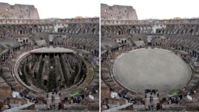 """Colosseo, Franceschini: """"La ricostruzione dell'arena si farà"""" -   le immagini"""