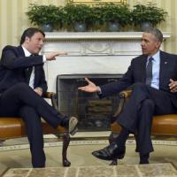 """Casa Bianca, Obama a Renzi: """"Impressionato dalla tua energia sulle riforme"""". Il premier:..."""