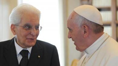L'incontro tra il Papa e Mattarella   foto