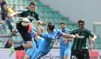 Quagliarella risponde a Berardi   foto   Sassuolo-Torino, un pari di rigore