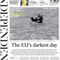Il naufragio nel canale di Sicilia, le prime pagine dei quotidiani internazionali