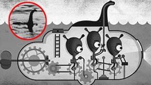 Una bufala di 81 anni fa: l'ironia di un doodle per celebrare Nessie