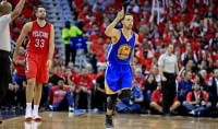 Cleveland affonda Boston Curry trascina i Warriors